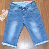 Джинсовые бриджи для девочек ,размеры 6-14,фирма C'est La Vie.Польша. Много размеров в наличии