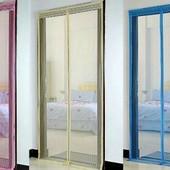 Цена прошлого года! Маскитные шторы на магнитах для дверей и окон. однотонные! 4 цвета