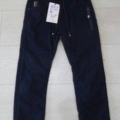 СП утепленные, котоновые брюки на флисе для мальчиков, р 116-176 Венгрия,