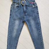 СП джинсовые брюки для девочек р 116-164, Венгрия, в наличии и под заказ