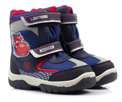 Зимние ботинки 24-32р Disney Молния Маккуин с водозащитным слоем C ... ab0a4b3f0a5