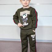 Детские  костюмы на флисе Турция от 86 - 146 рост