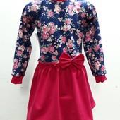 Платье с брошью и кружевом. Ткань - французский трикотаж. Выкуп на постоянной основе