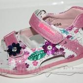 Детская обувь оптом. Детские босоножки бренда Y.TOP для девочек (рр. с 21 по 26)