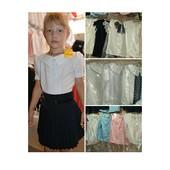 Блузки короткий рукав, размеры 122-152, добавили цвета и модели