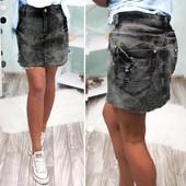 Выкуп от одной шт.Джинсовая юбка с потертостями. Р-ры с, m, xL, 2xl. смотрите замеры