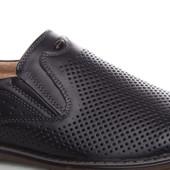 Кожаные мужские туфли-мокасины. Свободны 40,44,45.