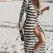 Шикарная пляжная туника- макси легкая и воздушная
