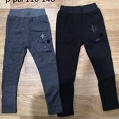 Утепленные брюки, джинсы, леггинсы лосины для девочек . Наличие 116 и 122
