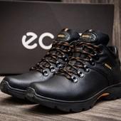 Распродажа!Мужские зимние кожаные ботинки Ecco