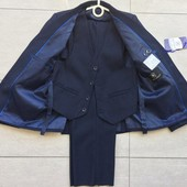 Школьный Костюм тройка Темно- синий ,пиджак,жилетка,брюки, на мальчика 24-36 р.- 620 грн