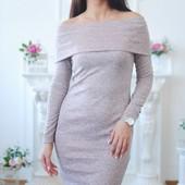 Платье хомут и просто под горло из меланж ангоры.