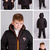 Зимние куртки для мальчика, р.98-140