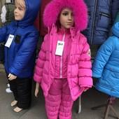 Зимний комбинезон для девочки от 86-110 размер, отправка сразу от 1 единицы