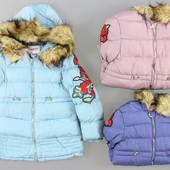 В наличии!!!! Куртки на меховой подкладке для девочек Grace оптом, 4-12 лет. Венгрия! Ростовка!