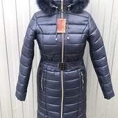 Женское длинное зимнее пальто 50