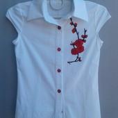 Сбор!Школьные блузочки для девочек, размерный ряд от 6 до 15 лет!