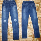 Модные Леггинсы с имитацией джинса для девчонок 134-164 р.