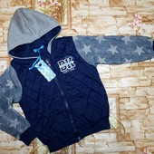 Крутая куртка-бомбер на модника 122-146 р