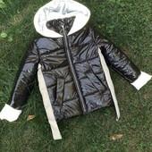 Куртки осень на утеплителе хамелеон,светоотражающие, эко кожа ,