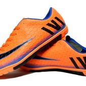 Футзалки-бампы хорошего качества ярко-оранжевые (XLS-2616X)