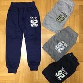 В наличии! Новинка! Спортивные джоггеры-штаны для мальчиков 98-128 и 134-164 см рост.