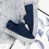 Спортивные туфли, кроссовки натуральная замша утеплены