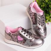 Шикарные кроссовки для девочек  27-32 рр. 2 цвета. Реал. фото и замеры.