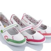Туфли детские, удобные, практичные! рр.,31-36!3 цвета!фуксия, коралл, зеленый!Спешим!