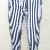 Легчайшие котоновые брюки р 42-50 полоска/ горох
