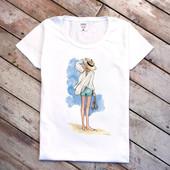 Женские футболки с принтом, морская тематика)