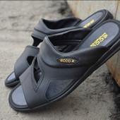 Мужские кожаные шлёпанцы Ecco, Nike