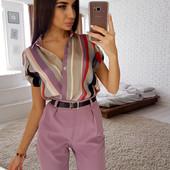 Костюмы брюки+блузка,шорты+блузка,с пиджаком. Много расцветок. Можно отдельно заказать верх или низ.