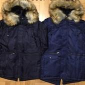 Куртка зимняя для мальчиков f&d 8-16 лет
