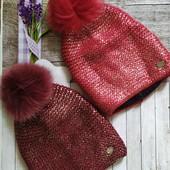 Женские шапочки по суперцене! С модным напылением фольга и люрексовой нитью.Количество ограничено