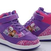 Уже в наличии!!! Удобные хайтопы, кроссовки, ботиночки Frozen 31-36р. 2 цвета