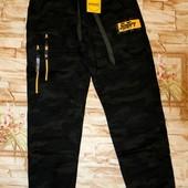 Модные утепленные спорт. брюки с начесом 140-170 р.