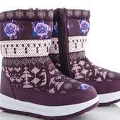 Деми ботинки на девочку Jong.Golf. Детские зимние ботиночки, р.22-27.Дутики для девочек р.32,37