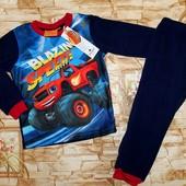 Очень яркая флисовая пижама на мальчиков 92-116 р