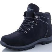 Стильные мужские зимние ботинки кроссовки на меху р. 41-46