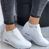 Классные белые женские кроссовки. В наличии. Новый сбор