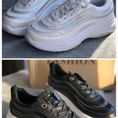 Кроссовки спортивные 2 цвета: белые и черные