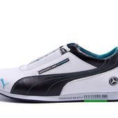 Мужские кожаные кроссовки Puma Mercedes!Новинка