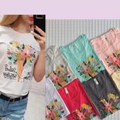 Турция.Женские футболки- отличного качества! Коллекция - лето 2020. Ткань 100% хлопок