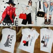 Сп выкуп от 1 ед,Турция ,стильные футболки с принтом,с,м,л,хл