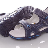 Кожанные сандалии Clibee F276-blue Синий