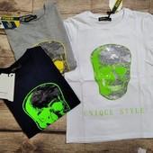 Тренд сезона футболки со стразами 122-152. для мальчиков.