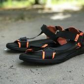 Мужские кожаные сандали Nike из натуральной кожи
