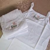 Майки и футболки бельевые белые. Турция для мальчиков и девочек. От 3 до 14 лет. Замеры