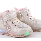 Милейшие ботиночки с Led подсветкой. Размеры 21-31